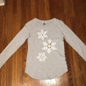 Other - Grey snowflake pajama top